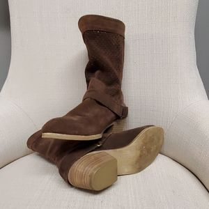 Brown Chinese Laundry Suede Ankle Booties